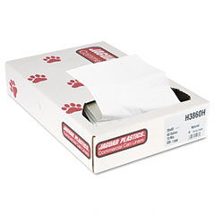 Jaguar Plastics H3860H Heavy Grade Can Liners, 60 Gal, 13 Mic, 38 X 60, Natural, 200/Carton