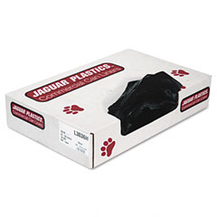 Jaguar Plastics L3036H Industrial Strength Commercial Can Liners, 30 Gal, Black, 200/Carton