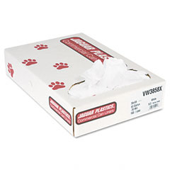 Jaguar Plastics VW3858X Industrial Strength Commercial Can Liners, 60 Gal, .7 Mil, White, 100/Carton