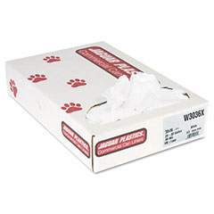 Jaguar Plastics W3036X Industrial Strength Commercial Can Liners, 30 Gal, .9Mil, White, 100/Carton