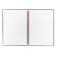 Blaack N Red B79019 Twinwire Hardcover Notebook, Perforated, Ruled, 8-1/4 X 11-3/4, White, 70-Sheet