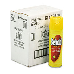 Janisource JNS96406CT Professional Behold Furniture Polish, 16-oz Aerosol Cans, 6/Carton
