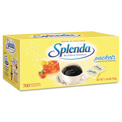 Splenda - no calorie sweetener packets, 700/carton, sold as 1 bx