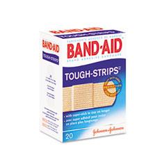Johnson & Johnson 4408 Flexible Fabric Adhesive Tough Strip Bandages, 1 X 3-1/4, 20/Box