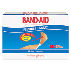 Johnson & Johnson 4434 Flexible Fabric Premium Adhesive Bandages, 3/4 X 3, 100/Box