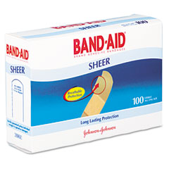 Johnson & Johnson 4634 Sheer Adhesive Bandages, 3/4 X 3, 100/Box