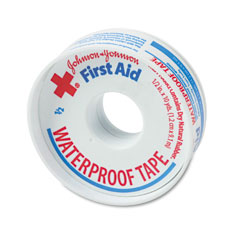 "Johnson & Johnson 5050 First Aid Kit Waterproof Tape, 1/2"" X 10 Yards, White"
