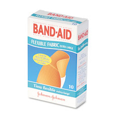 Johnson & Johnson 5685 Flexible Fabric Extra Large Adhesive Bandages, 1-1/4 X 4, 10/Box