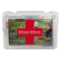 Johnson & Johnson JOJ8123 All-Purpose First Aid Kit, 170 Pieces, Plastic Case