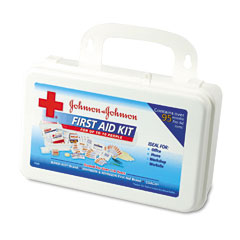 Johnson & Johnson 8140 Professional/Office First Aid Kit For 10 People, 98 Pieces, Plastic Case