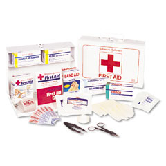 Johnson & Johnson JOJ8161 Nonmedicinal First Aid Kit for 25 People, 87 Pieces, Metal Case
