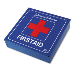 Johnson & Johnson 8162 Industrial First Aid Kit For 50 People, 225 Pieces, White Metal Case