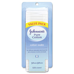 Johnson & Johnson 100823800 Pure Cotton Swabs, 525/Pack