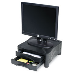 Kelly computer supply - monitor/printer stand w/2 drawers,13 x 13 1/2 x 5 3/4, black, sold as 1 ea