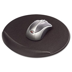 Kelly computer supply - viscoflex memory foam oval mouse pad, black, sold as 1 ea