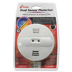 Kidde 442007 Dual Sensor Smoke Alarm, 9V Battery