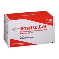 Kimberly-Clark 03046 Wypall L40 Wipers, 10 4/5 X 10, Pop-Up Box, White, 90/Box, 9/Carton