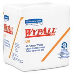 Kimberly-Clark 05701 Wypall L40 Cloth-Like 1/4-Fold Wipes, 12 1/2 X 13, 56/Box, 18/Carton
