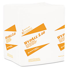 Kimberly-Clark 05790 Wypall L40 Cloth-Like Wipes, 16 2/5 X 9 4/5, 100/Box, 9/Carton