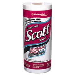 Kimberly-Clark 41482 Scott Perforated Kitchen Towel Rolls, 8 3/4 X 11, White, 128/Roll, 20/Carton