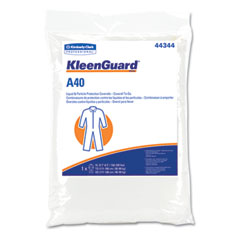 Kimberly-Clark 44344 Kleenguard A40 Coverall To-Go, Microporous Film Laminate, Xl, White