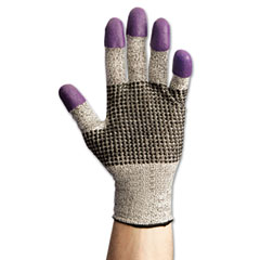 Jackson* safety brand - g60 purple nitrile gloves, medium/size 8, black/white, pair, sold as 1 pr