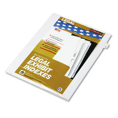 "Kleer-Fax 80004 80000 Series Legal Exhibit Index Dividers, Side Tab, ""D"", White, 25/Pack"