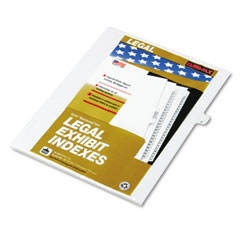 "Kleer-Fax 80010 80000 Series Legal Exhibit Index Dividers, Side Tab, ""J"", White, 25/Pack"
