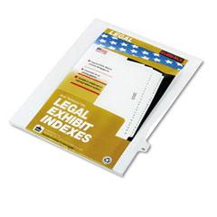 Kleer-fax - 80000 series legal index dividers, side tab, printed -inch46-inch, 25/pack, sold as 1 pk