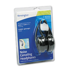 Kensington - noise canceling headphones 33084 folding design, portable, sold as 1 ea