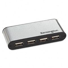Kensington KMW33935 PocketHub USB 2.0, 4 Ports, 6w x 2-1/2d x 8-1/2h
