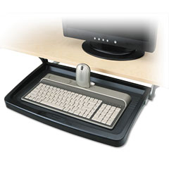Kensington KMW60009 Standard Keyboard Drawer, 20w x 10-1/4d, Black