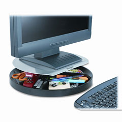 Kensington - spin2 monitor stand, 14 x 14 x 3 1/4, black, sold as 1 ea