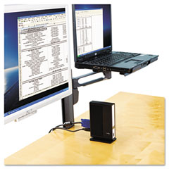 Kensington 60905 Column Mount Notebook-Monitor Dual Arm W/Smartfit System