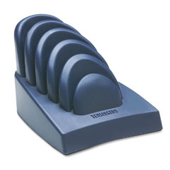 Kensington - insight priority puck five-slot desktop copyholder, plastic, dark blue/gray, sold as 1 ea