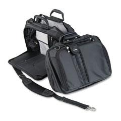 Kensington - contour 15-inch laptop carrying case, nylon, 16-1/2 x 6-1/2 x 12-1/2, black, sold as 1 ea