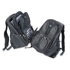 Kensington - contour laptop backpack, nylon, 15 3/4 x 9 x 19 1/2, black, sold as 1 ea