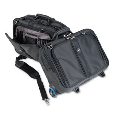 Kensington - contour roller laptop case, nylon, 17-1/2 x 9-1/2 x 13, black, sold as 1 ea