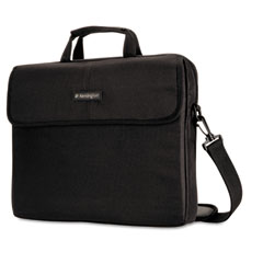 Kensington - laptop sleeve, padded interior, inside/outside pockets, black, sold as 1 ea