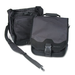 Kensington - saddlebag laptop carrying case, 14-1/4 x 6-1/2 x 16-1/2, black, sold as 1 ea