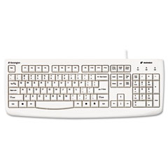 Kensington 64406 Pro Fit Usb/Ps2 Washable Keyboard, 104 Keys, White