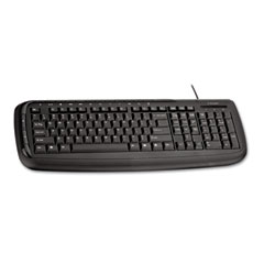 Kensington KMW64408 Pro Fit Wired Keyboard, USB, 112 Keys, Black
