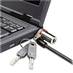 Kensington - microsaver ds ultra-thin laptop lock, silver, two keys, sold as 1 ea
