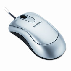 Kensington KMW72213 Optical Mouse-In-A-Box, Two-Button/Scroll, Silver