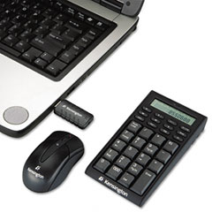 Kensington KMW72273 Wireless Notebook Keypad/Calculator & Mouse Set, Optical 800 dpi, Black