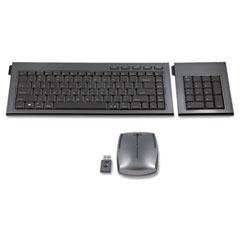 Kensington 72279 Slimblade Wireless Multimedia Keyboard, Keypad, & Mouse Set, 98 Keys, Graphite