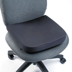 "Kensington 82024 Memory Foam Seat Rest, 13-1/2""W X 14-1/2""D X 2""H, Black"
