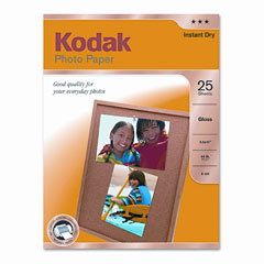 Kodak - photo paper, 44 lbs., glossy, 8-1/2 x 11, 25 sheets/pack, sold as 1 pk