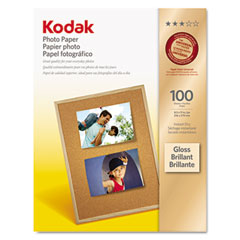 Kodak - photo paper, 6.5 mil, glossy, 8-1/2 x 11, 100 sheets/pack, sold as 1 pk