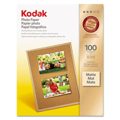 Kodak - photo paper, matte, 7 mil, 8-1/2 x 11, 100 sheets/pack, sold as 1 pk